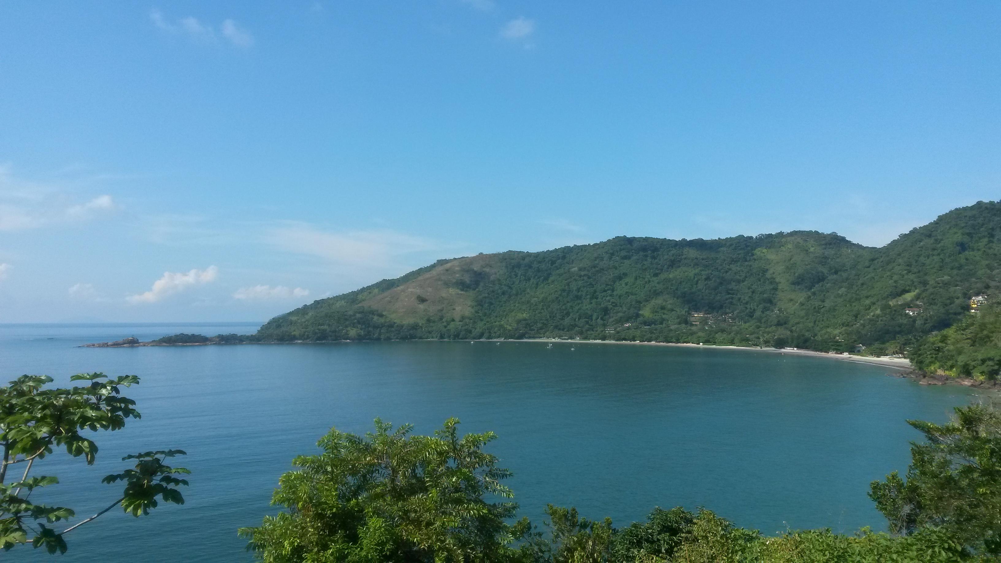 Praia da Fortaleza vista da estrada
