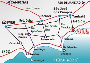 mapa de estradas