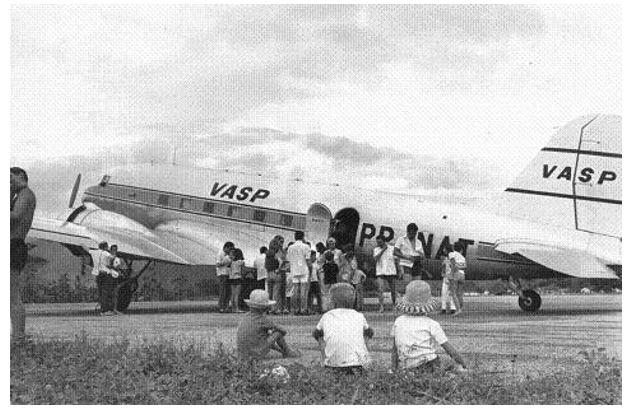 Avião VASP no aeroporto