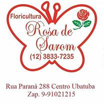 Floricultura rosa de saron ubatuba logo