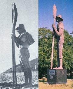 foto de Zé Capão e a estátua
